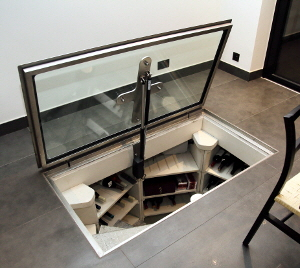 Glass cellar trap door installed for a client in south London