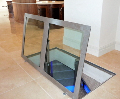Glass cellar door for a client near Elstree studios